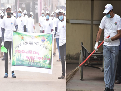 """The """"Green SCB Clean SCB"""" campaign was led from the front by Prof Datteswar Hota, the Dean and Principal SCBMCH, Cuttack on the occasion of the 72nd Republic Day on 26th January 2021."""