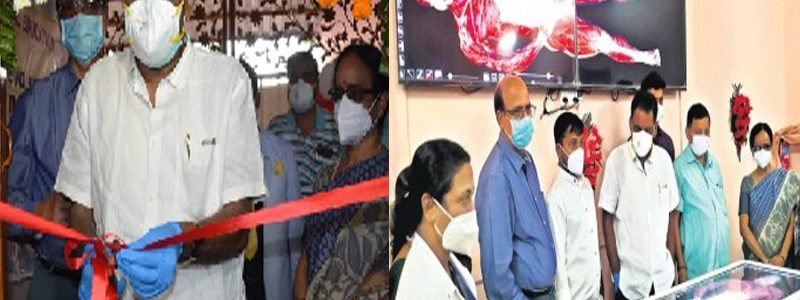 """Cutting edge technology: Inauguration of the virtual dissection – """"Anatomage"""" table in the department of Anatomy on 2nd Feb by Honáble Health Minister of Odisha Shri Naba Kishore Das"""