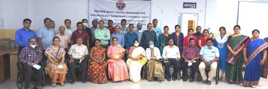 The revised basic course workshop on Medical Education Training and AETCOM (Attitude, Ethics and Communication) for faculty members was conducted between 23rd-25th March, 2021 at the NMC Regional Training Centre, SCBMCH, Cuttack